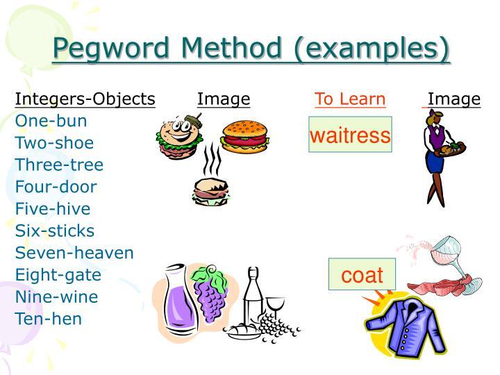Pegword Method (examples)