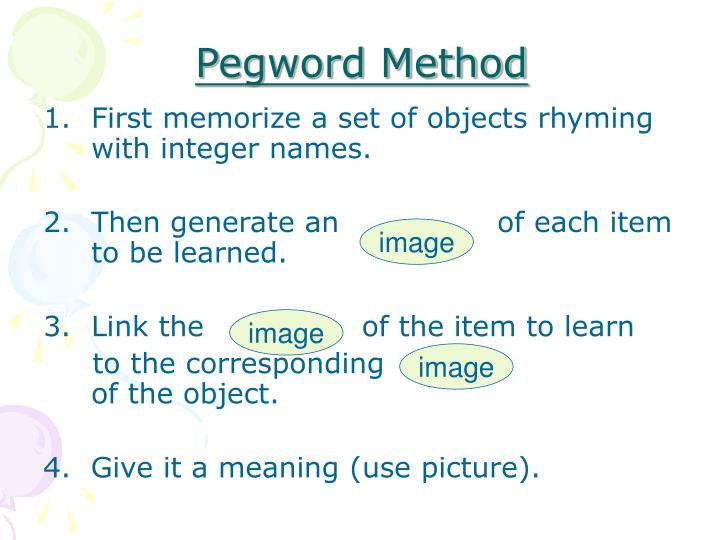 Pegword Method