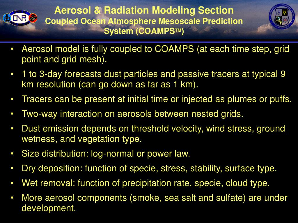 Aerosol & Radiation Modeling Section