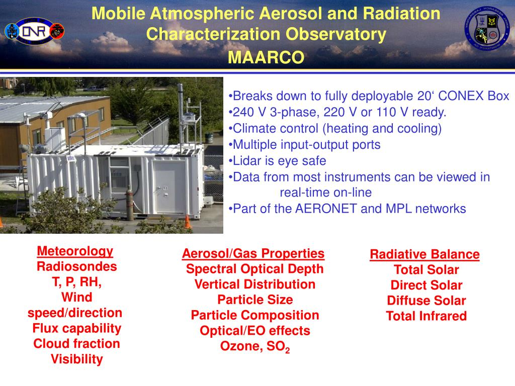 Mobile Atmospheric Aerosol and Radiation Characterization Observatory