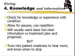 giving 4 knowledge and information1