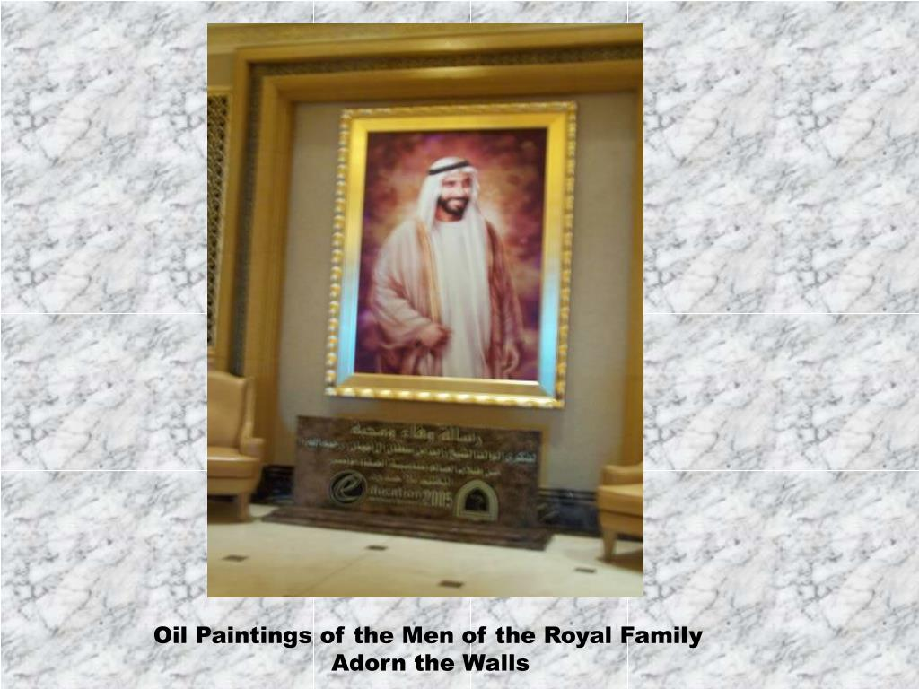 Oil Paintings of the Men of the Royal Family