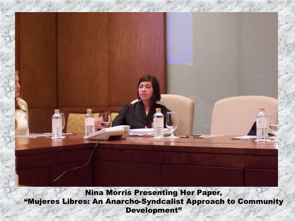 Nina Morris Presenting Her Paper,