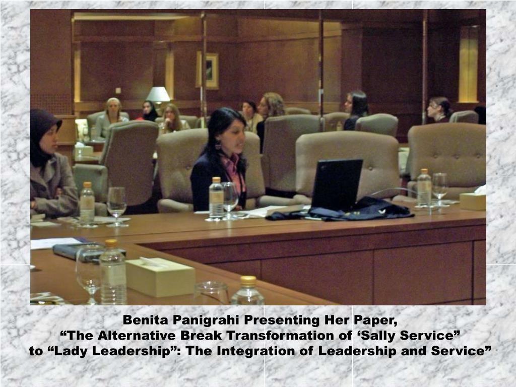 Benita Panigrahi Presenting Her Paper,