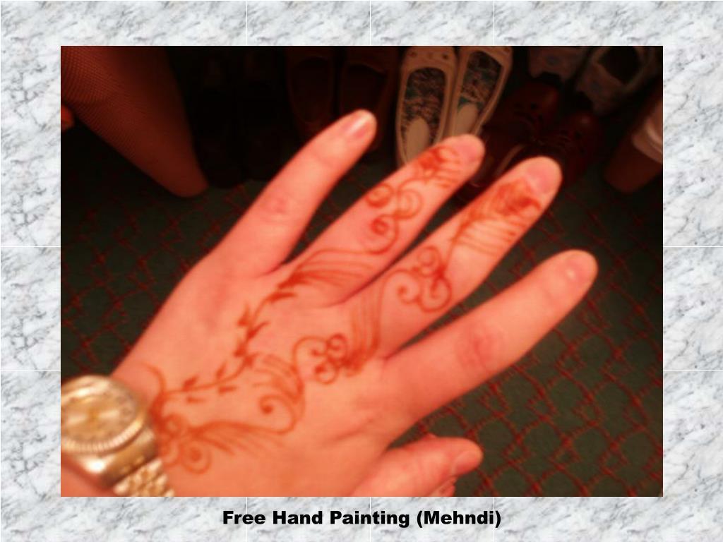 Free Hand Painting (Mehndi)