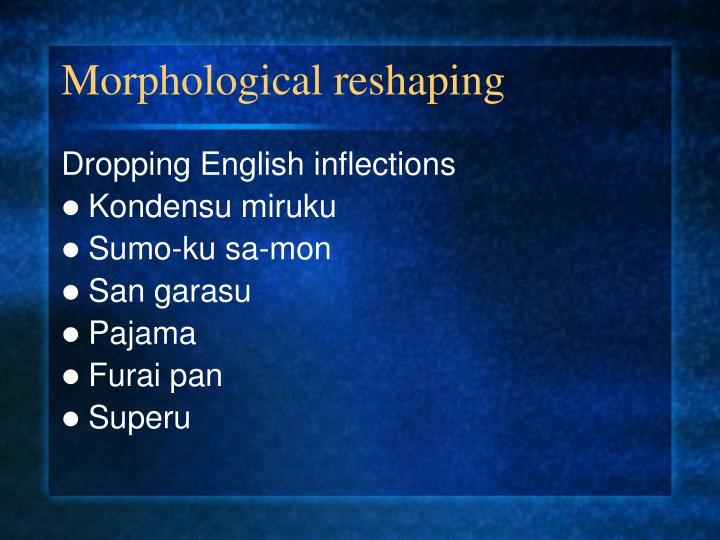 Morphological reshaping