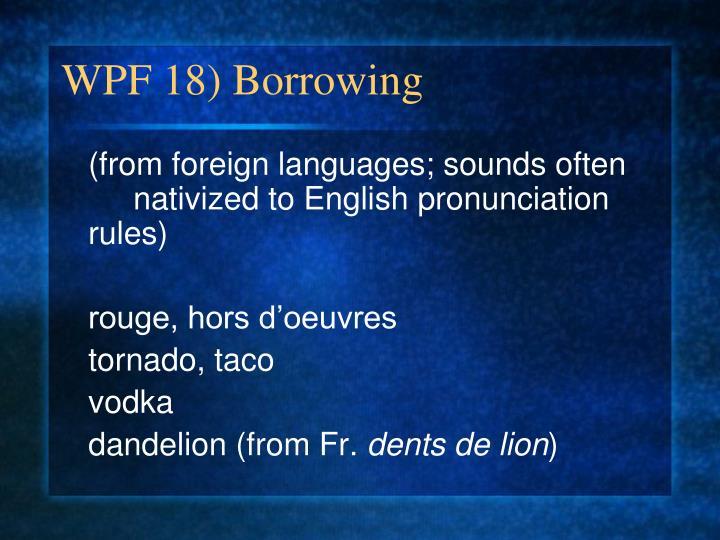 WPF 18) Borrowing