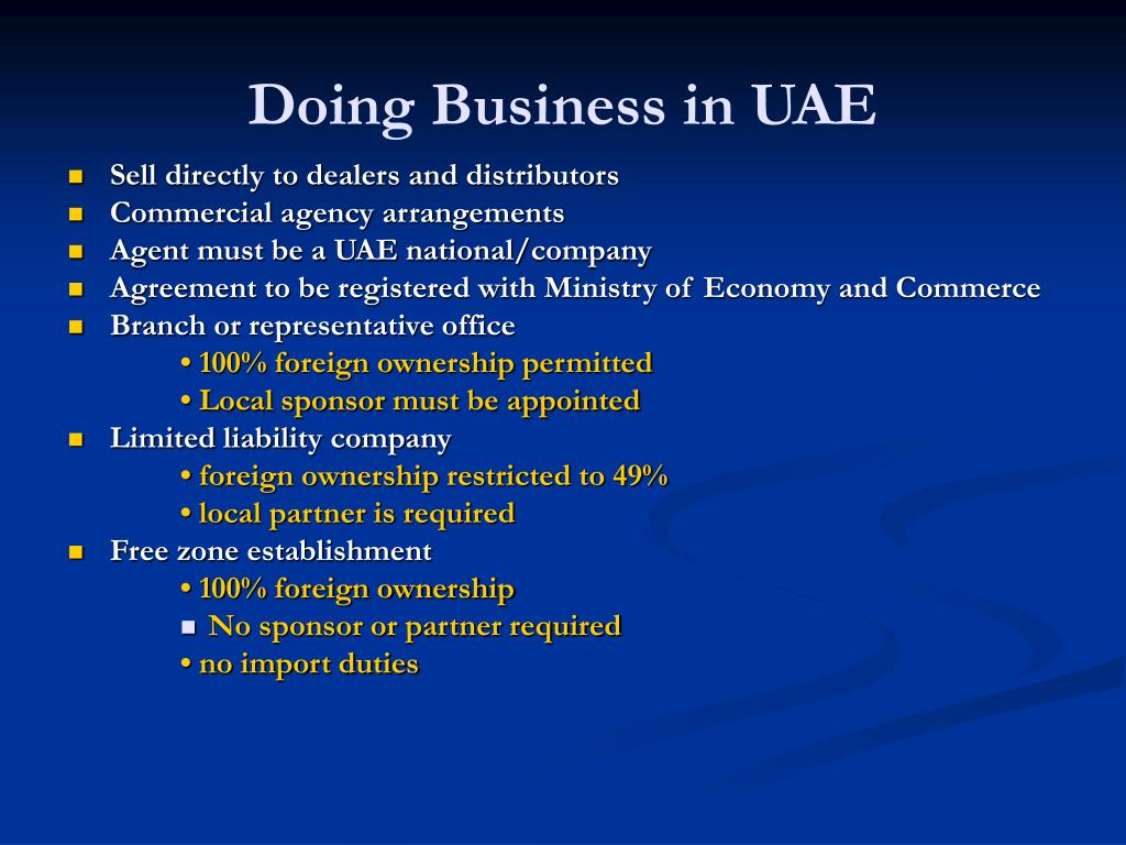 Doing Business in UAE