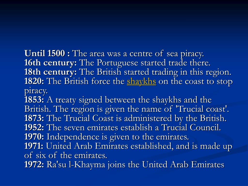 Until 1500 :