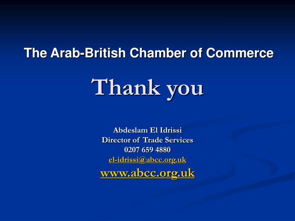 The Arab-British Chamber of Commerce