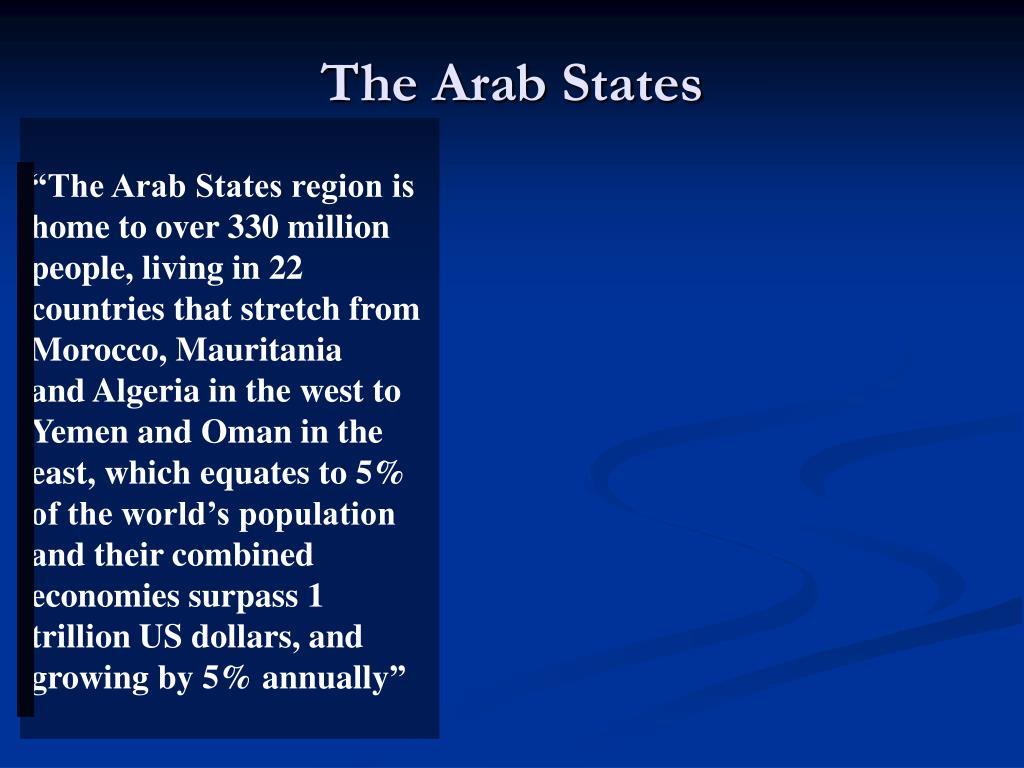 The Arab States