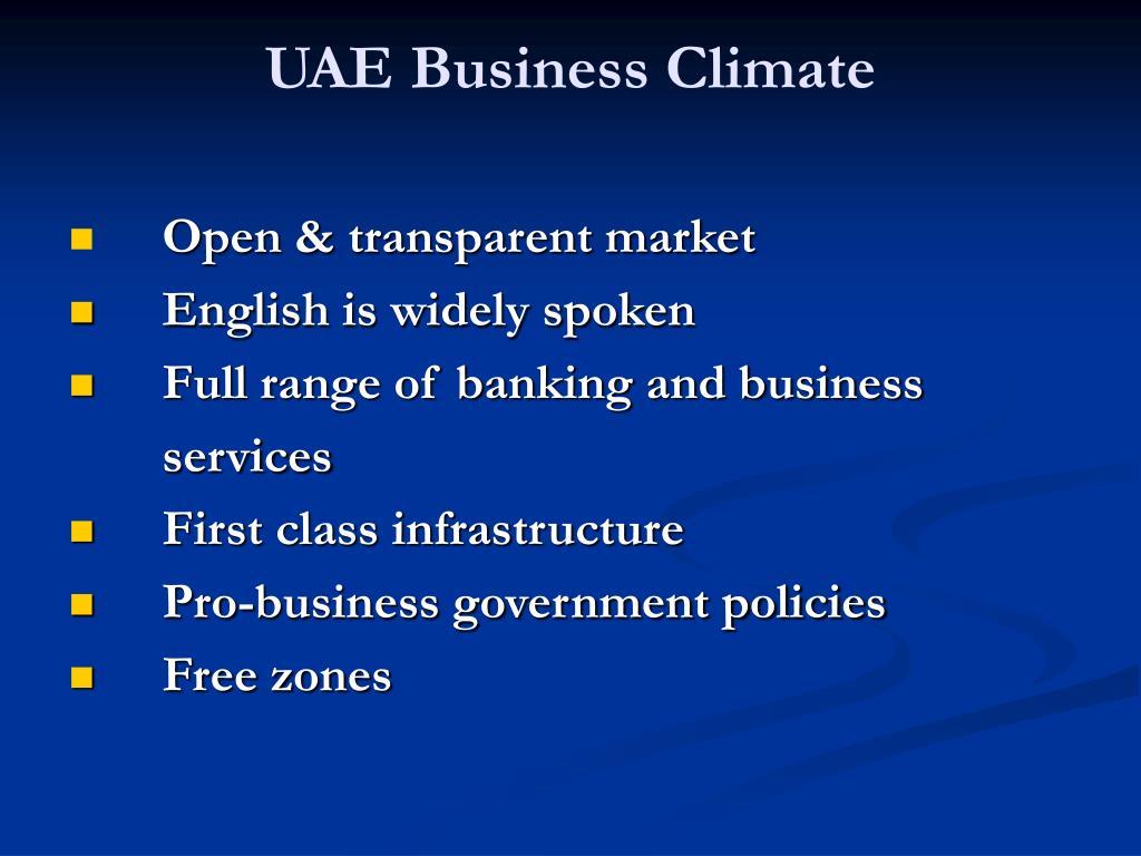 UAE Business Climate