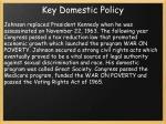 key domestic policy