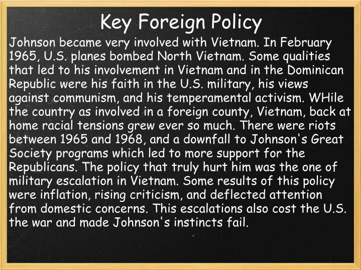 Key Foreign Policy