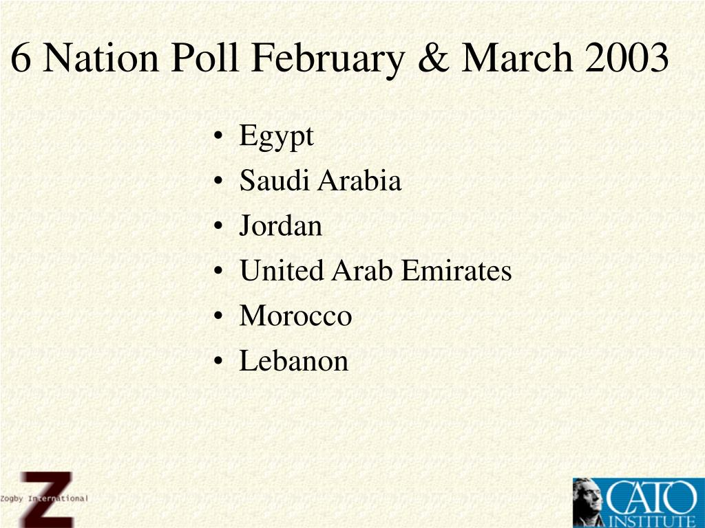 6 Nation Poll February & March 2003