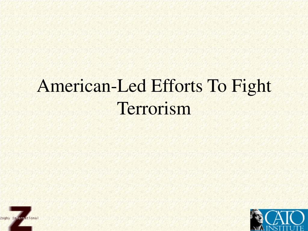 American-Led Efforts To Fight Terrorism