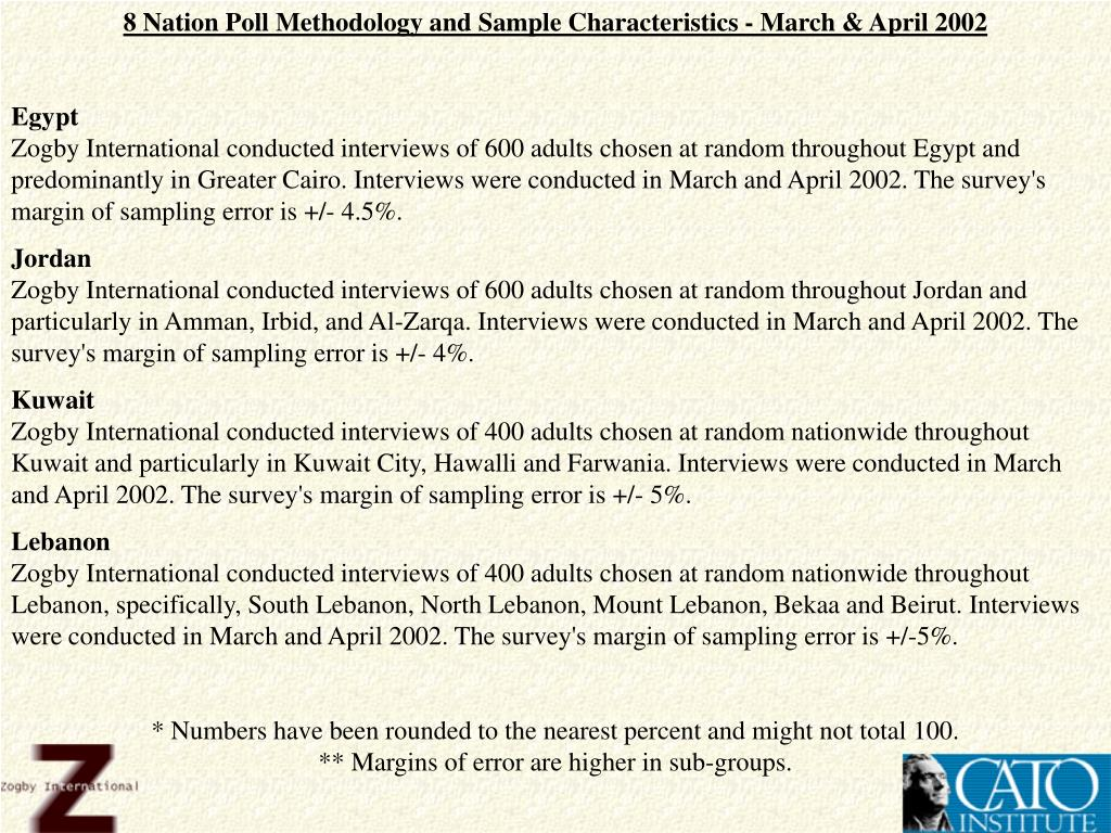 8 Nation Poll Methodology and Sample Characteristics - March & April 2002