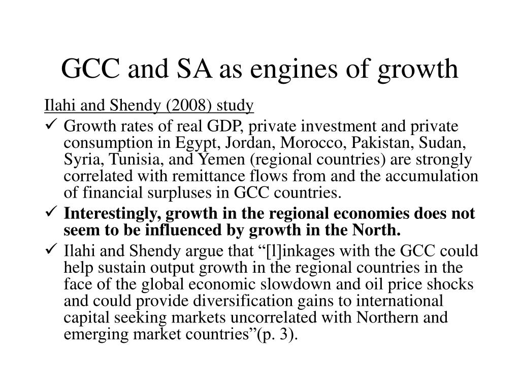 GCC and SA as engines of growth