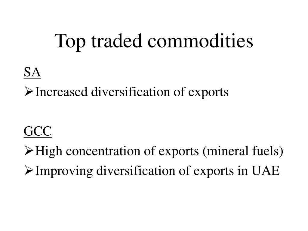 Top traded commodities