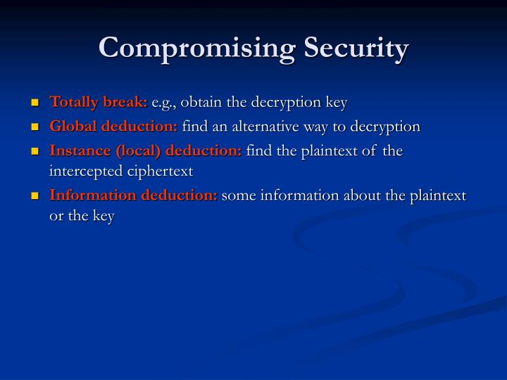 Compromising Security