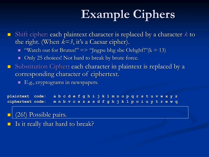 Example Ciphers