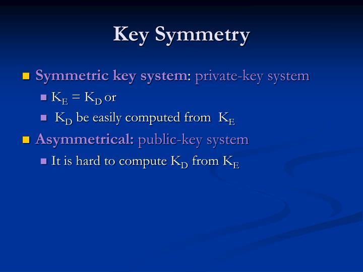 Key Symmetry