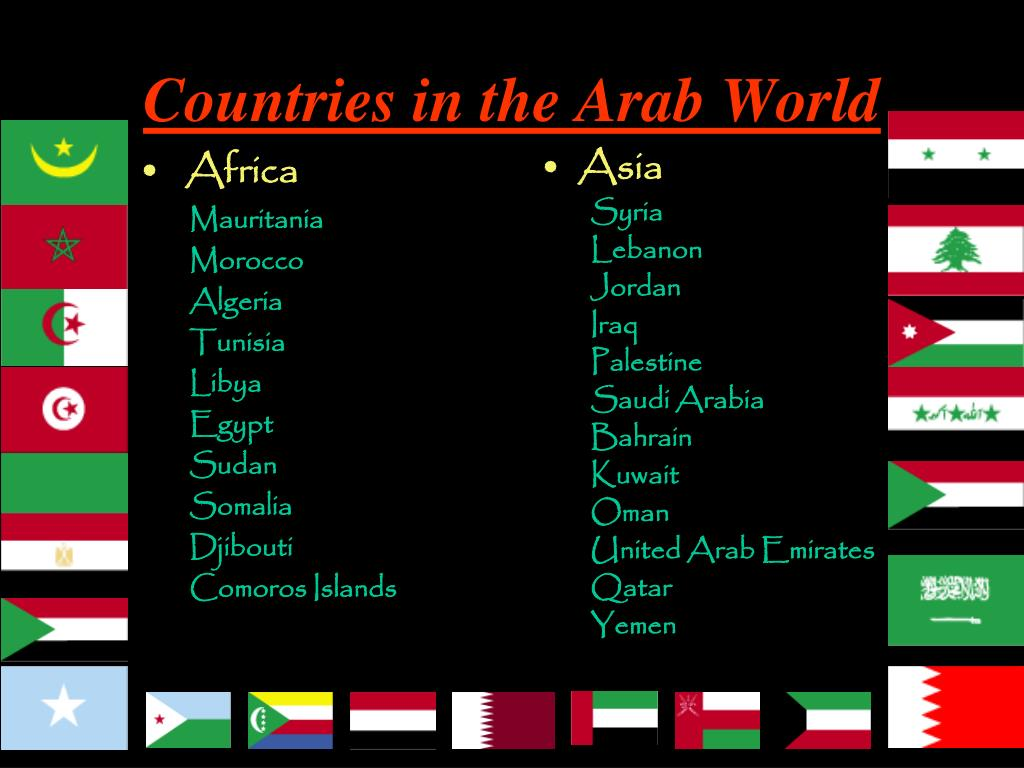 Countries in the Arab World