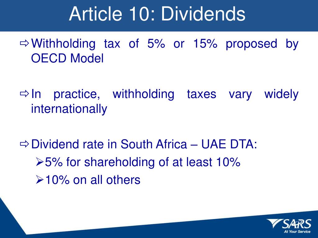 Article 10: Dividends