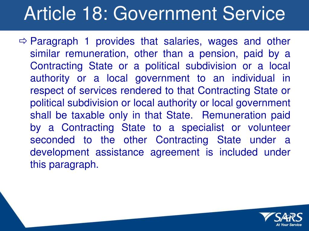 Article 18: Government Service