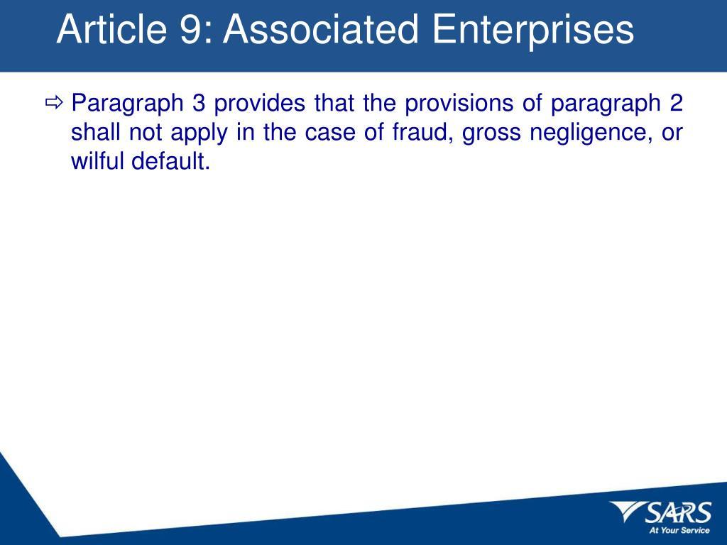 Article 9: Associated Enterprises