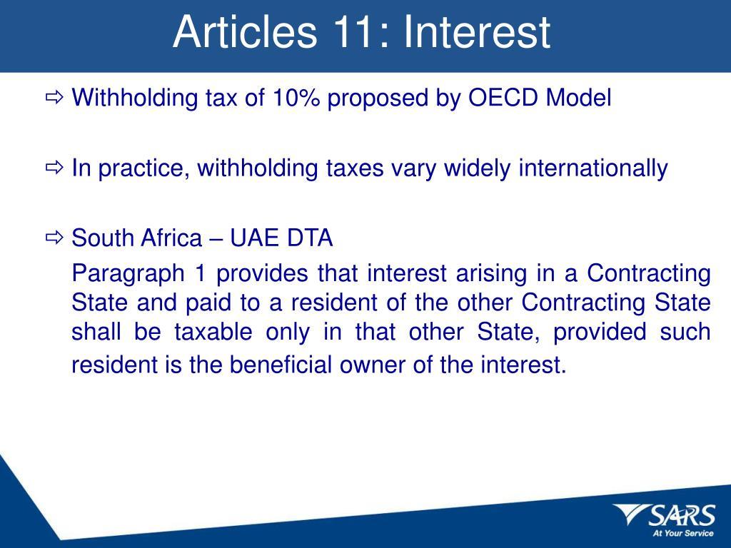 Articles 11: Interest