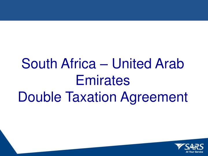 South africa united arab emirates double taxation agreement