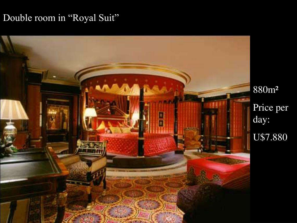 "Double room in ""Royal Suit"""