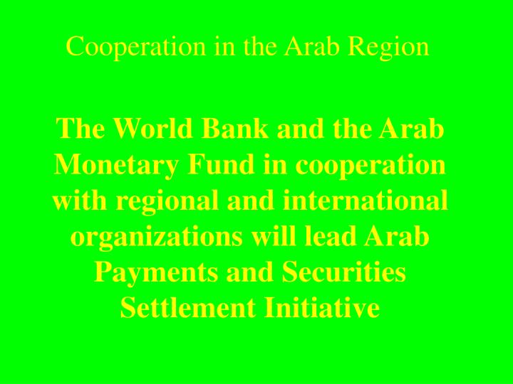 Cooperation in the arab region2