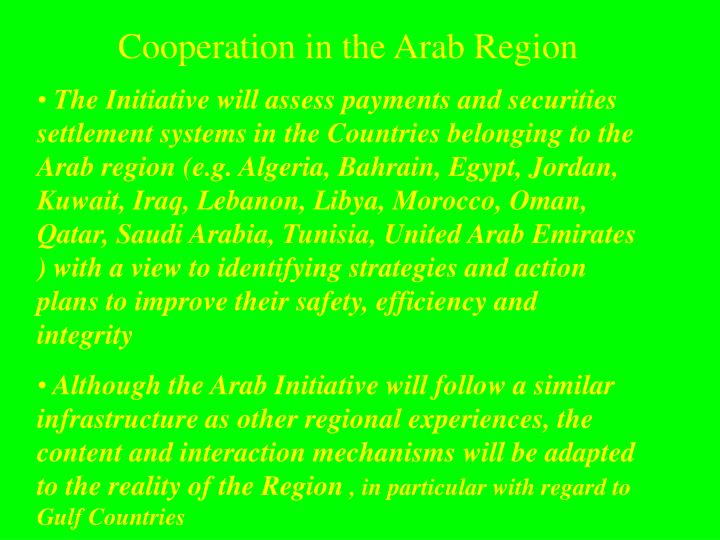 Cooperation in the arab region3