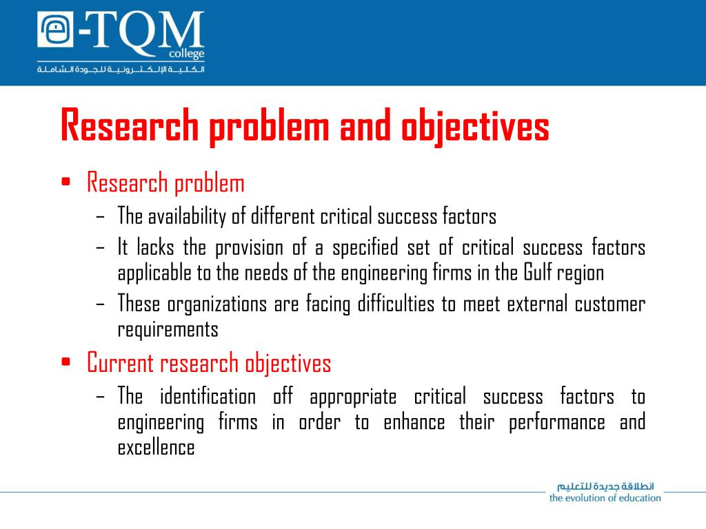 Research problem and objectives