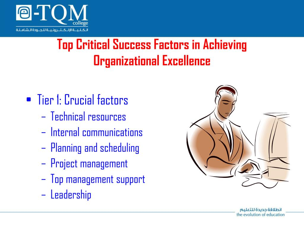 Top Critical Success Factors in Achieving Organizational Excellence
