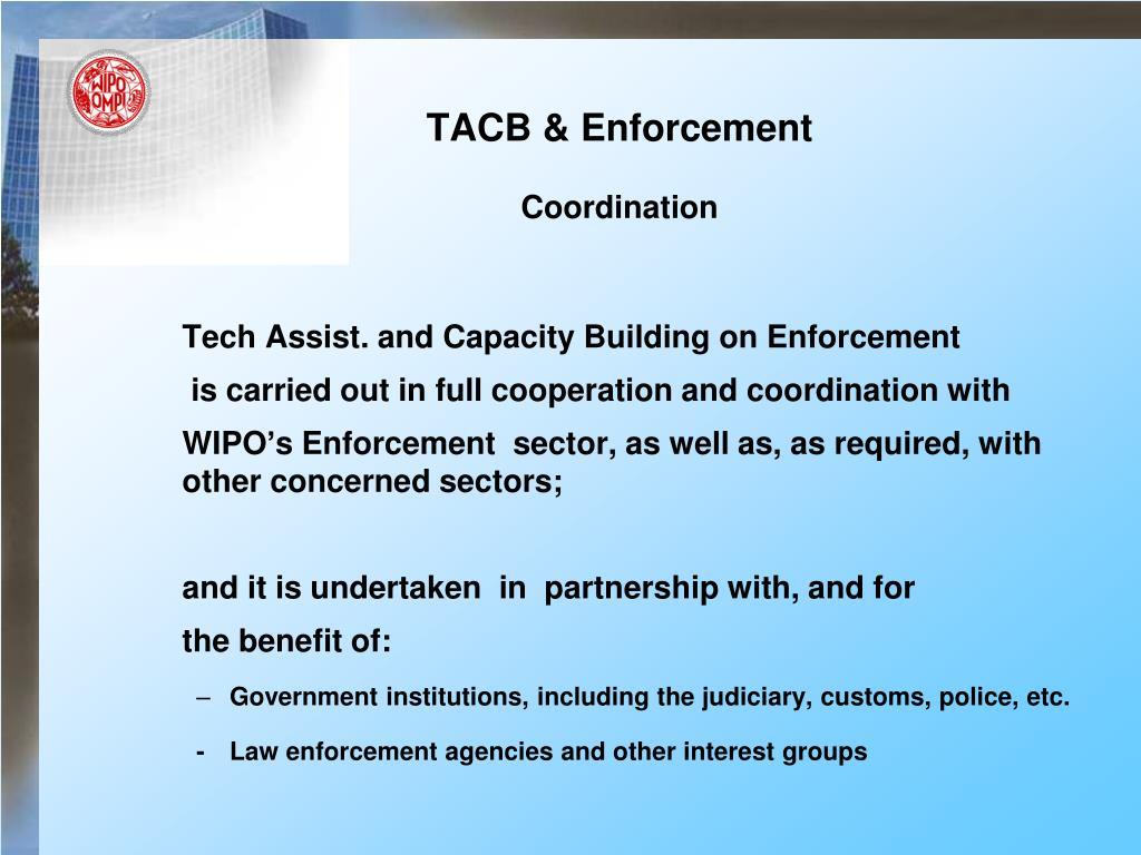 TACB & Enforcement