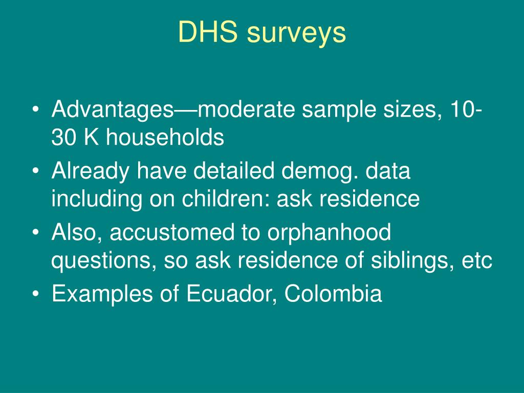 DHS surveys