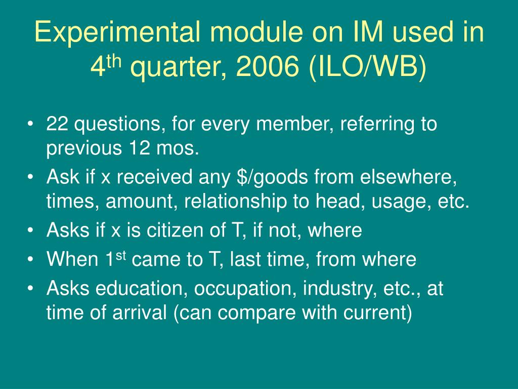 Experimental module on IM used in 4
