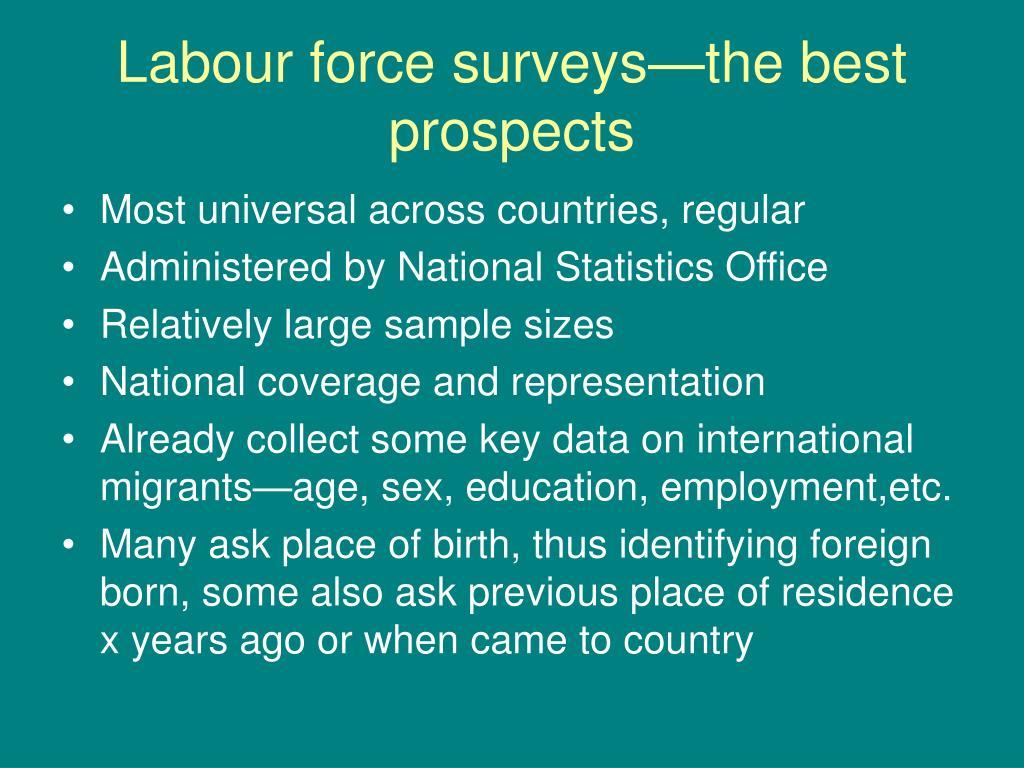 Labour force surveys—the best prospects