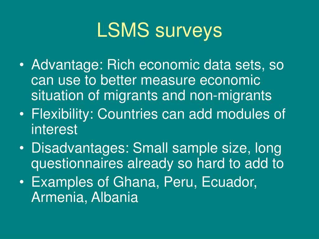 LSMS surveys