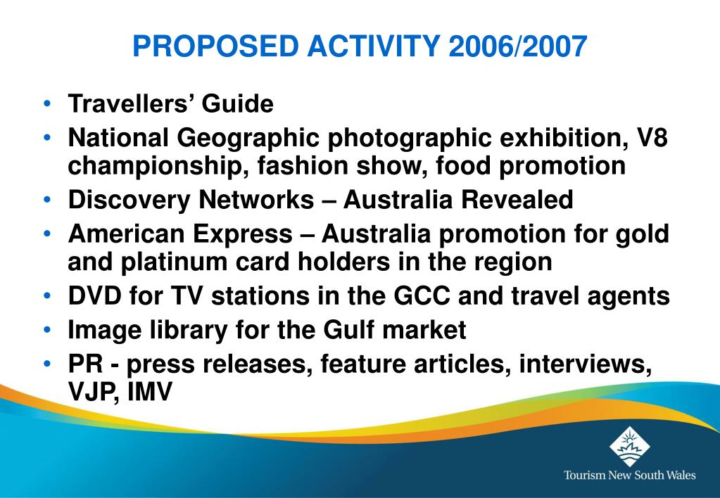 PROPOSED ACTIVITY 2006/2007