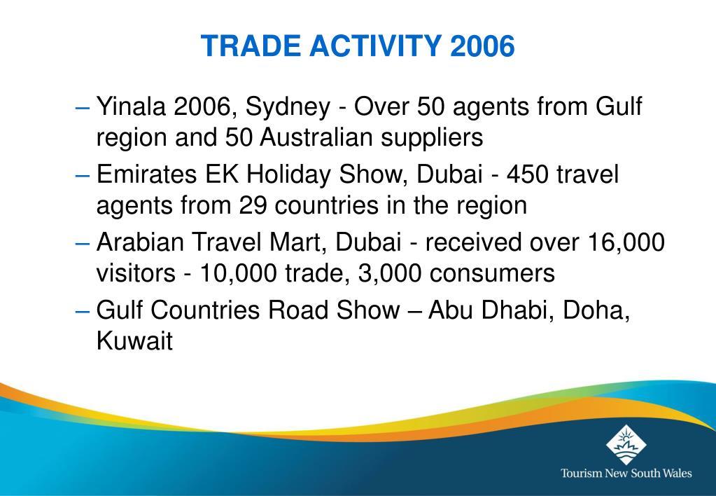 TRADE ACTIVITY 2006