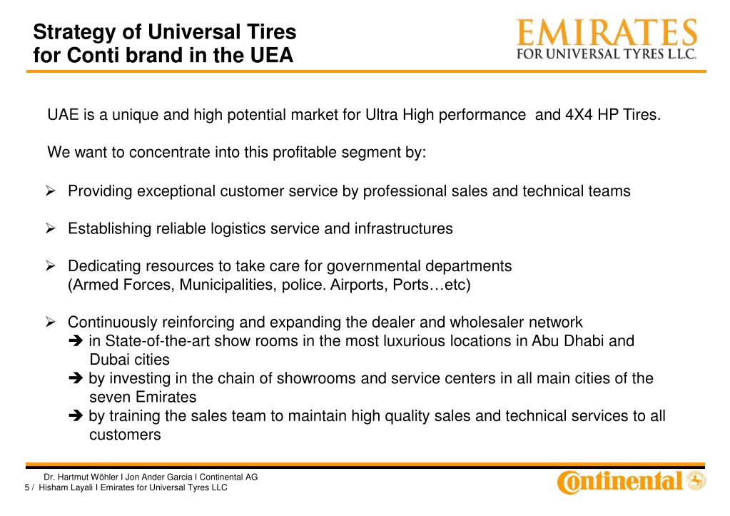 Strategy of Universal Tires