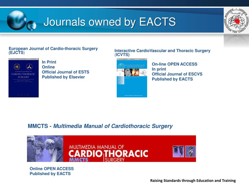 Journals owned by EACTS