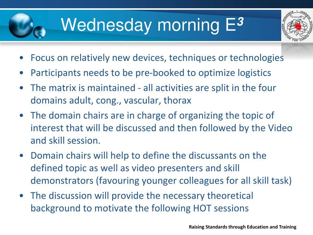 Wednesday morning E