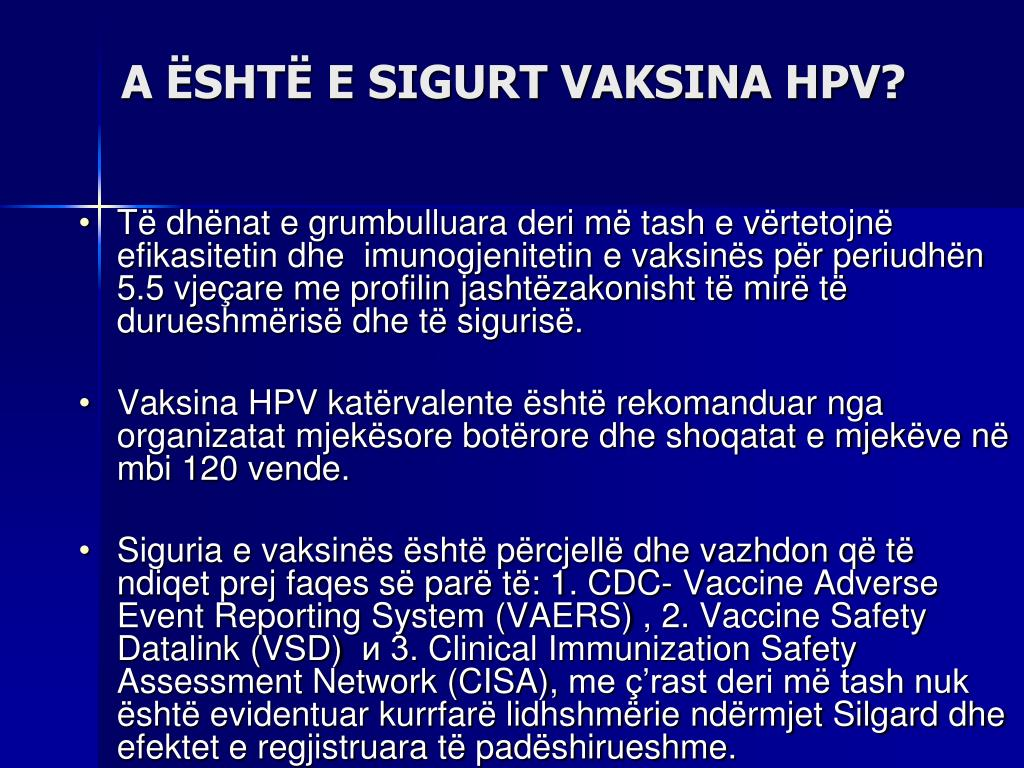 A ËSHTË E SIGURT VAKSINA HPV