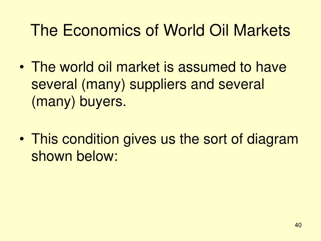 The Economics of World Oil Markets