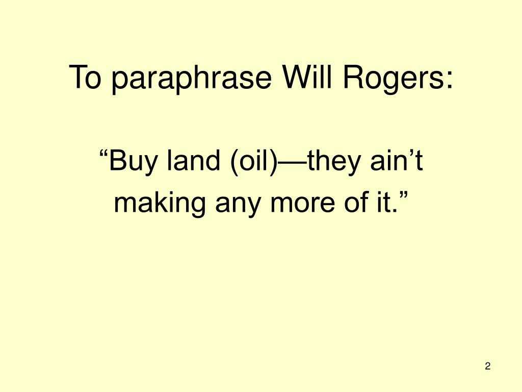 To paraphrase Will Rogers: